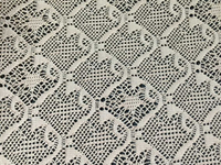 White Polyester Spandex Weft Knitting Lace Fabric