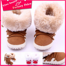 Winter fashion shoes for children/2016 new arrival leather baby shoes/good quality brown pu kids boots