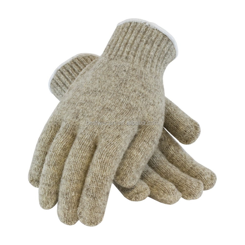 100% Seamless Knit Ragwool Glove for cold protection glove /glove liner