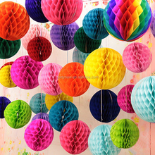 Hot sale Folding Tissue paper Honeycomb balls Honeycomb lanterns wedding party Decorations hanging Ball Tissue Paper Pom Poms