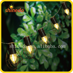 Eco-Friendly Garden Metal Decorative Commercial Outdoor Solar Led String Light Bulb