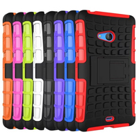 Multicolor TPU+PC Spider Stand Cell Phones Case Back Cover for Nokia lumia 540