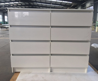 Modern chest of drawer UV high gloss drawer chest 8 drawer cabinet