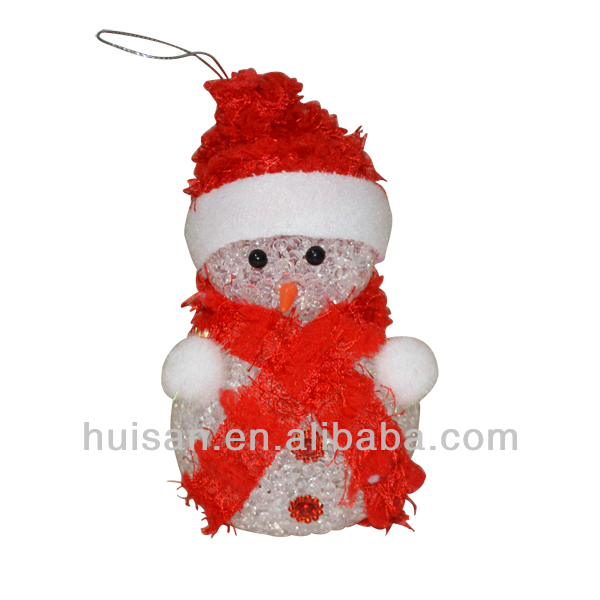 EVA Snowman Decoration Colorful flashing night light/color change LED light polyresin snowman
