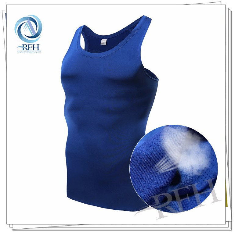 2016 Wholesale compression pro running vest quick dry men's t shirts