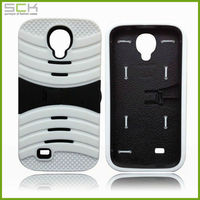 Silicone shock-proof case with stand for galaxy s4 , hybrid case for samsung