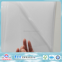 China factory pvc self adhesive transparent sticker paper