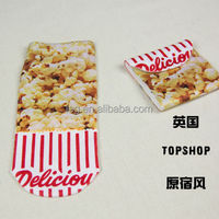 custom sublimation digit print popcorn puffed rice socks