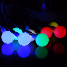 New Design battery-operated 20 LED Warm White Milky Globe string Light for Outdoor, Garden, Fence, Patio, Wedding decoration