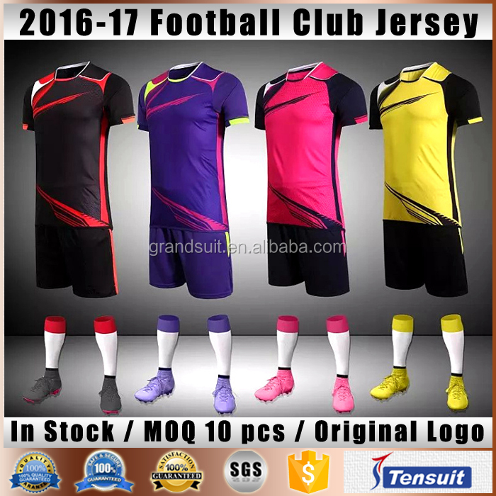 wholesale blank soccer jersey grade original quality hot club team football shirt maker