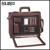 Multifunction Dark Brown Excellent Handcraft Leather Briefcases for Lawyers