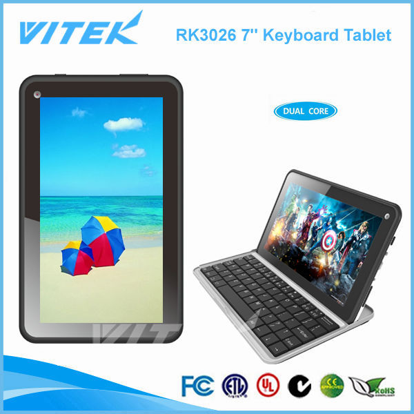 RK3026 Dual Core 7 inch Tablet Android with Bluetooth Keyboard