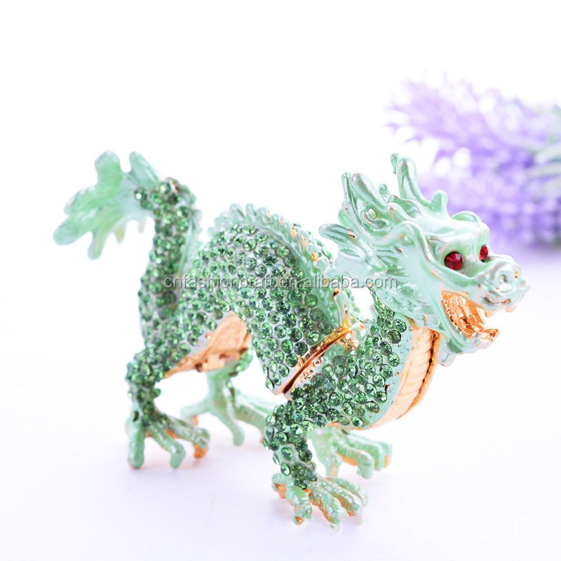 Chinese Fengshui dragon statues trinket jewelry box