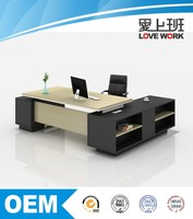executive Desk , general manager table office furniture with long side cabinet