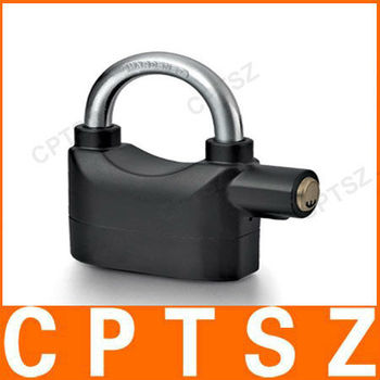 110db security bike alarm lock/bike lock with highly sensitive vibration sensor