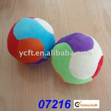 07216 soft stuffed plush baby toy ball