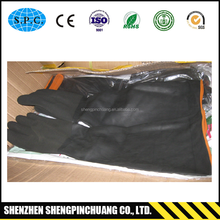 Wholesale heavyduty chemical resistant rubber glove for complete protection