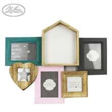 Exquisite craftsmanship family collage antique style wooden photo frames