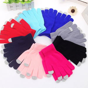 Custom Logo Cell Phone Smartphone Touch Gloves Winter Tactile Texting Touchscreen Gloves Touch Screen Glove