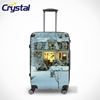 2014 Hot Selling Personalized Suitcase Wheeled Transperant Waterproof Airport Carry on Women Kids ABS PC Luggage Sets
