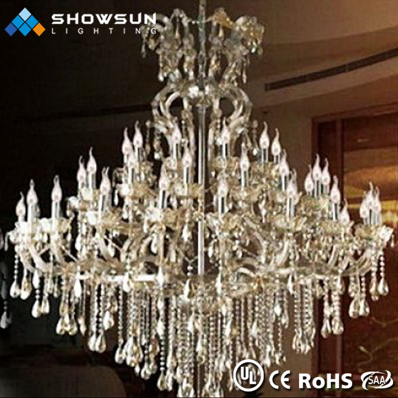 Showsun custom iron glass arm large hotel pendent lamp