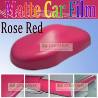 China Derek high grade vinyl full car body stickers rose red for car paint protective use