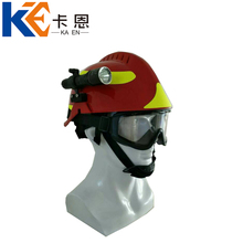 Red ABS f2 fire fighting helmet with cheap price