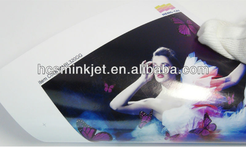 Wholesale China manufacturer Waterproof 260g RC glossy self adhesive photo paper