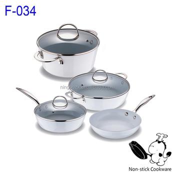 Korean Ceramic Pan Stainless Steel Cookware Titanium