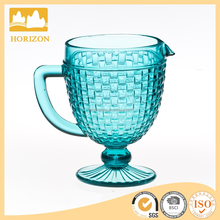 Aqua Knitting embossed glass water pitcher glass juice jug