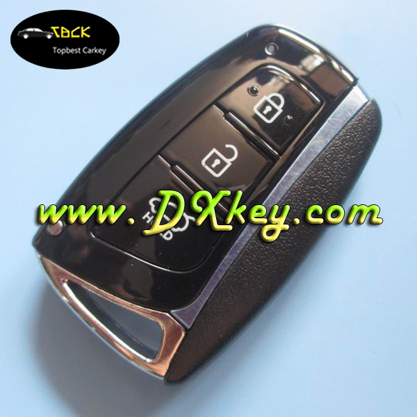 Superior quality and good price ix45 new santafe 3 buttons car remote key 433mhz for hyundai smart key