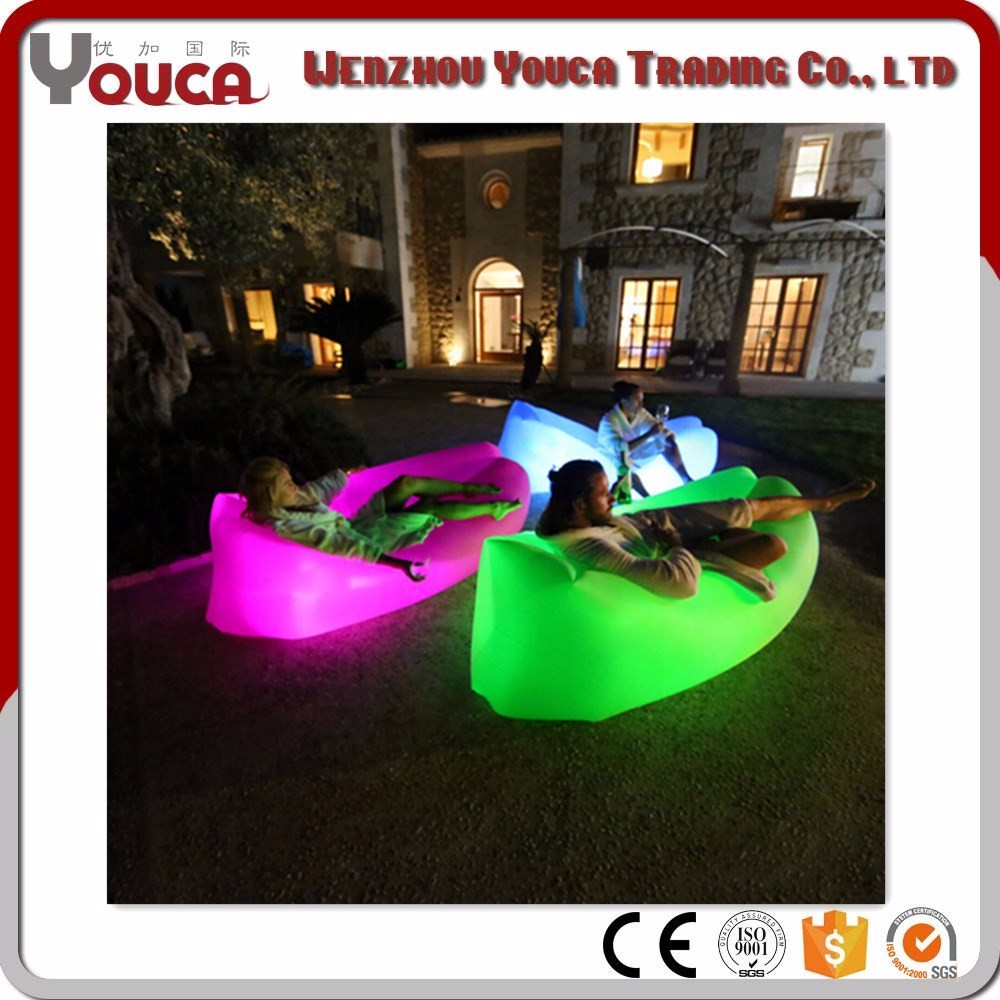 Wind pouch lay bag light kit inflatable air lounge sofa, inflatable air sleeping bags, laybag with led light