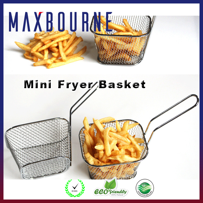 Cookware stainless steel french fries basket bbq grill basket