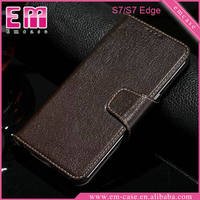For Samsung Galaxy S7 Real Genuine leather case for Samsung Galaxy S7 Edge