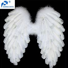 Horng Shya K2668 New Arrival Factory Direct Sales Wholesale White Customized Big Feather Wings
