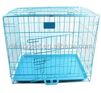 China factory folding wire dog cage with metal grill
