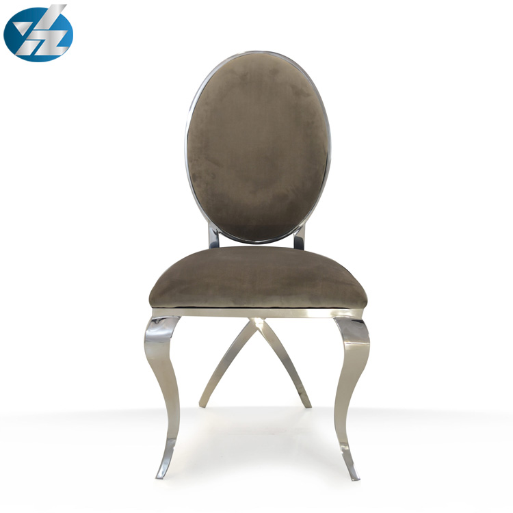 2019 Hotel furniture wedding gold/silver stainless steel dining chair
