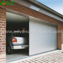 Double panel slat durable aluminum sliding garage door