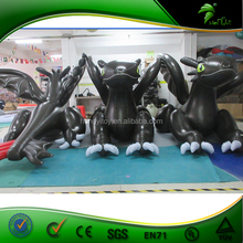 Incredible dragon inflation animation,inflatable toothless dragon,inflatable balloon animals