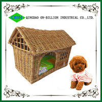 Wholesale wicker new desigh handmade soft pet house wicker dog bed