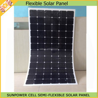 300W semi flexible solar panel thickness 5mm