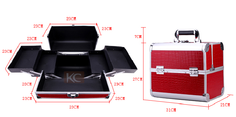 Professional hair organizer for barber's,hairdressing carry cases,hair tool case with trays,compartmens and tool holders inside