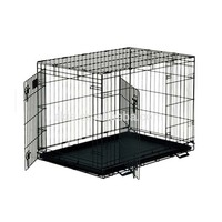 Ekia Wholesale Dog Cages Double Door Metal Dog Crate With Multiple Sizes