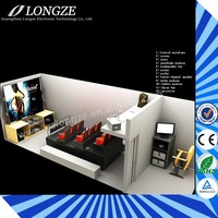 Longze hot sale 3d cinemas 8d theater simulator game machine 10d cinema for sale