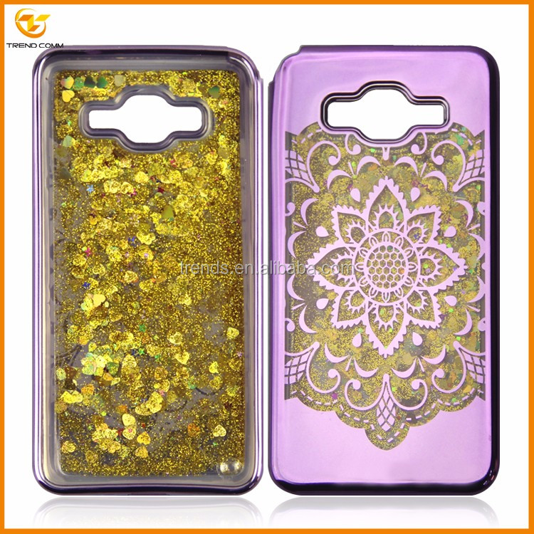 2017 electroplating bling quicksand phone case for samsung galaxy g530h