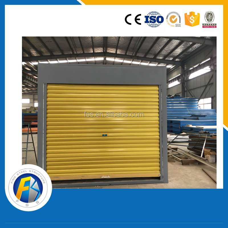 Pre-fabricated folding container shop, mobile restaurant
