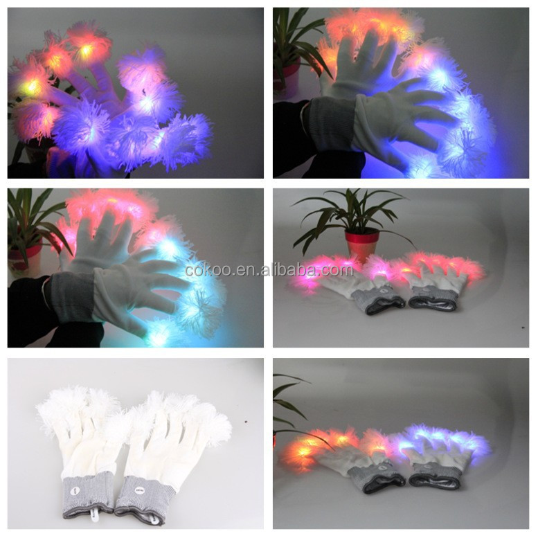 led glove Free sample Hot Mens Womens Sport LED Gloves Unisex Flash Light Up Ski Night Gloves Mittens