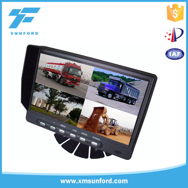 Hot selling 4 split quad screen display color car monitor