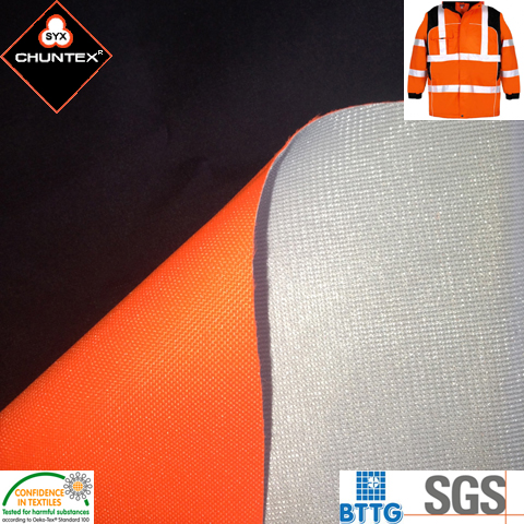 300D Polyurethane Coating Polyester Oxford DWR Laminated Fabric with Polyester Tricot