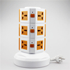 ME-S3 Three Layers Overload protection Power Extension Tower of Vertical Rotary Outlet with 5 Meters line with 4 USB